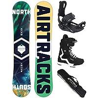 AIRTRACKS Snowboard Set - Board North South 156 - Fijaciones Master - Softboots Strong 44 - SB Bag
