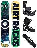 AIRTRACKS Snowboard Set - Tabla North South Wide (Hombre) 152 - Fijaciones Star - Botas Savage Black 43 - SB Bolsa/Nuevo