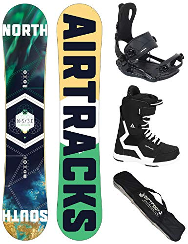 Airtracks snowboard set - board north south 163 - attacchi master - softboots savage black 45 - sb bag