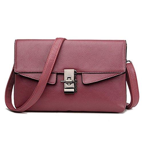 ZPFME Frauen Handtasche Mode Umschlag Tasche Elegant Party Retro Damen Verbot Mode Damen Tasche Handtasche Pink