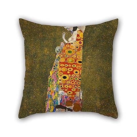 Loveloveu de Noël Taie d'oreiller de peinture à l'huile Gustav Klimt–Hope, II 50,8x 50,8cm/50par 50cm Meilleur ajustement pour enfants filles salle à manger adolescents garçons Sol GF enfants double côtés