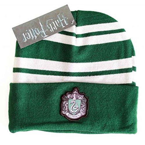 Harry Potter Mütze Beanie Slytherin House Crest Logo Patch Nue offiziell