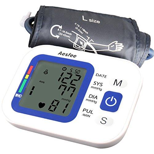 Oberarm-Blutdruckmessgerät USB-Aufladung, digitale automatische Blutdruck- und Pulsmessung, Rekorder für zwei Benutzer (2 x 99 speicherbare Messungen)