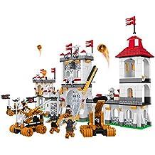Ausini- Juego de bloques Castillo medieval & cañones - 1.208 piezas (ColorBaby 42860)