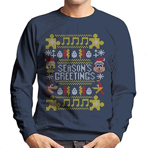 Banjo Kazooie Christmas Knit Men's Sweatshirt gebraucht kaufen  Wird an jeden Ort in Deutschland