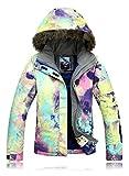 Damen Skijacke warm Jacke gefüttert Winter Jacke Regenjacke Bunte 921