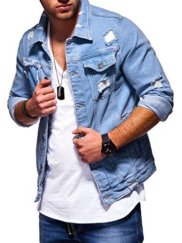 Gebraucht, MT Styles Jeansjacke Destroyed Denim Jacke Jeans Hemd gebraucht kaufen  Wird an jeden Ort in Deutschland