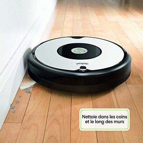 iRobot Roomba 605 Aspirateur Robot, système de nettoyage puissant, aspire tapis, moquettes et sols durs, idéal pour les poils d'animaux, blanc