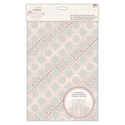 Papermania Capsule, Papier, Moroccan Haze, A4 Vellum and Laser Cut Paper Pack (Pack of 16)
