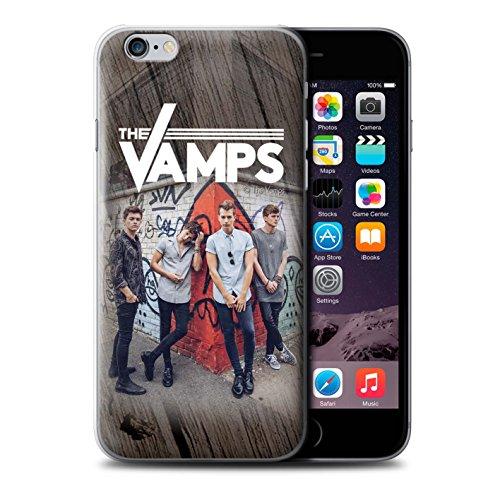 Offiziell The Vamps Hülle / Case für Apple iPhone 6+/Plus 5.5 / Pack 6pcs Muster / The Vamps Fotoshoot Kollektion Holz-Effekt