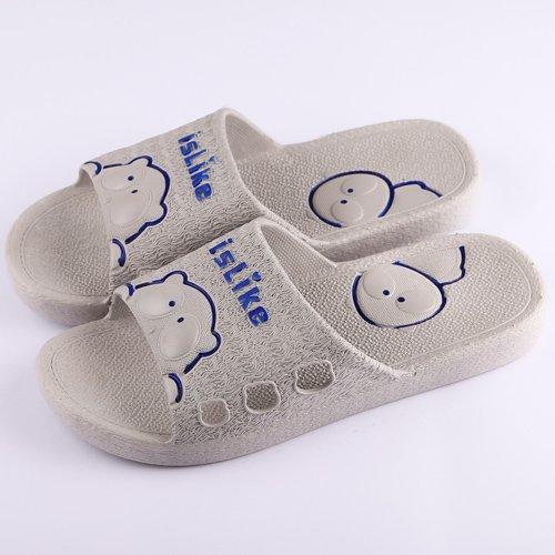 DogHaccd pantofole,Estate Home gli uomini e le donne le stanze da bagno sono ideali per le coppie anti-slittamento fondo morbido cool ciabatte di plastica interna spessa per uso domestico Grigio chiaro3