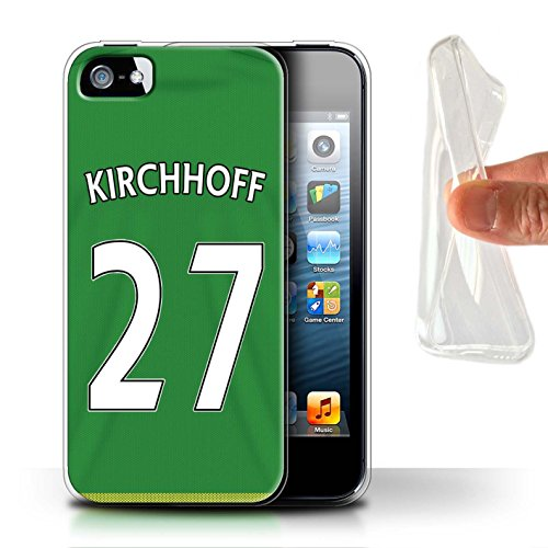 Offiziell Sunderland AFC Hülle / Gel TPU Case für Apple iPhone 5/5S / Pack 24pcs Muster / SAFC Trikot Away 15/16 Kollektion Kirchhoff