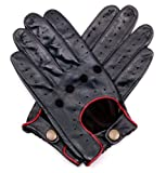 Dents Herren Handschuh   - Schwarz - Black/Berry - Small