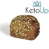 KetoUp: Frisches Low Carb Walnussbrot | Bestens geeignet für die ketogene und Low Carb Ernährung | Sportnahrung | Gesunde Ernährung | enthält maximal 3% Kohlenhydrate - 550g | versandkostenfreie Lieferung innerhalb Deutschlands ab einem Bestellwert in Höhe von 20€