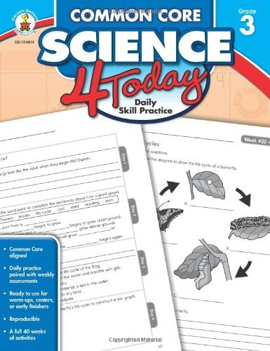 Common Core Science 4 Today, Grade 3: Daily Skill Practice (Common Core 4 Today) (2014-05-15)