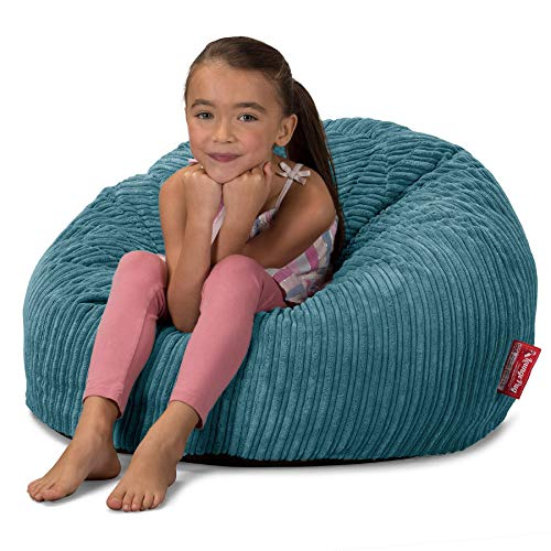 Lounge Pug, CloudSac 200 Kids, Puf Gigante Viscoelástico Infanti, Pana Clásica Egeo Azul