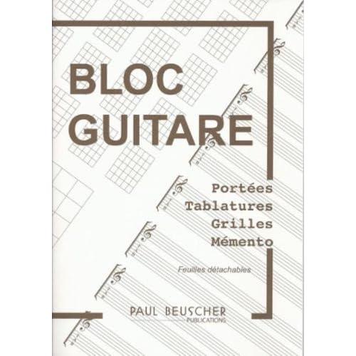 Partition : Bloc guitare