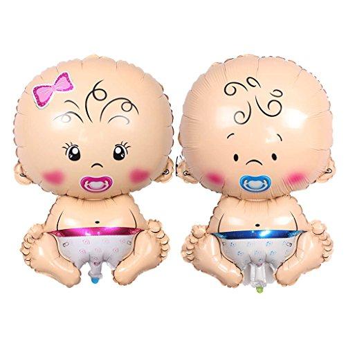 (Baoblaze 2X Folienballon Luftballon Deko Ballon, Schnuller Baby Figur für Baby Geburtstag und Taufe)