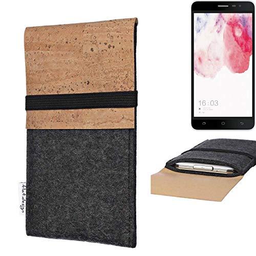 flat.design Handy Hülle SAGRES für Hisense F20 Dual-SIM Made in Germany Handytasche Filz Tasche Schutz Case fair Kork