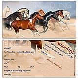 12 Pferde Einladungen im Karten-Set - liebevoll gestaltete Einladungskarten zum Geburtstag für Mädchen Jungen Kindergeburtstag Party von BREITENWERK®