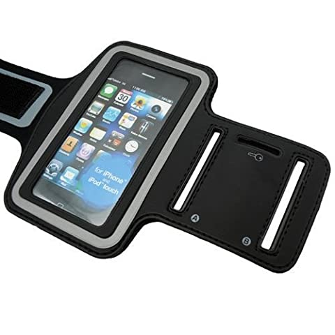 Mofun Black Running Walking or Cycling Sports Armband Case Holder with key holder and Velcro strap for iPod Touch iPhone 3G 3GS 4 4S 4G/iTouch 1st 2nd 3rd 4th gen