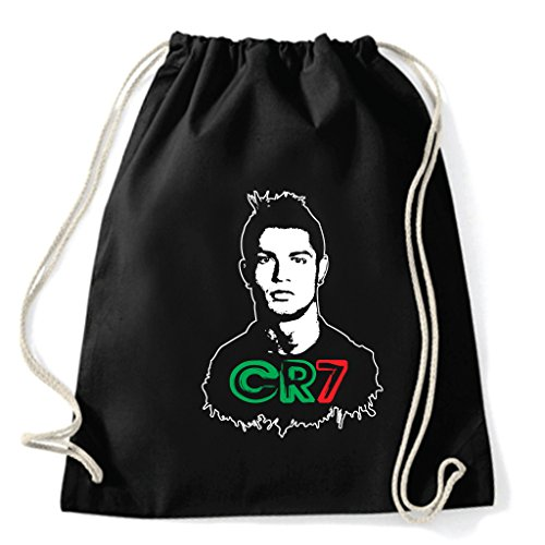 Art T-shirt, Zaino Sacca Cristiano Ronaldo CR7, Nero