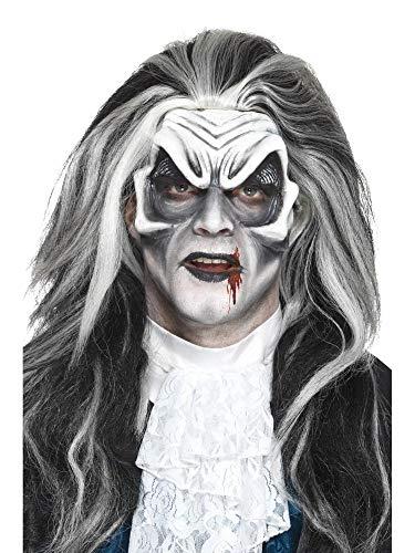 shoperama Prothesen-Maske Schaumlatex mit Kleber Skelett Dämon Wolf Haut-Applikation FX Make-up Horror Halloween, Variante:Vampir