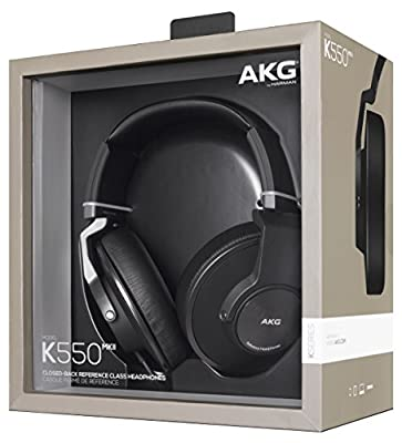 AKG K550 MKII Premium Foldable Closed Back Over-Ear Headphones - Black