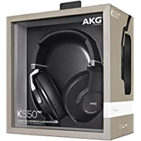AKG K550 MKII Premium Foldable Closed Back Over-Ear Headphones - Black