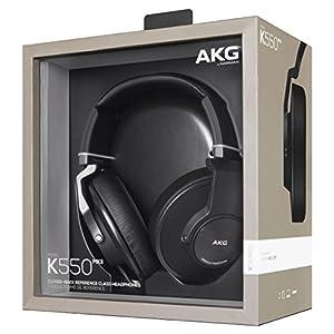 AKG K550 Geschlossener Hochleistungs-Over-Ear Ausinės mit 2D-Axis Faltmechanismus und AKG-Referenzsound mit Geräuschisolierung Kompatibel mit Apple iOS und Android Geräten