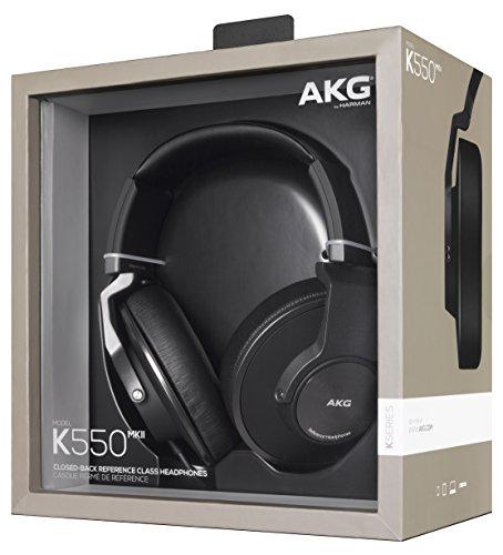 AKG K550 MKII Cuffie Stereo Chiuse, Pieghevoli, Premium, Nero