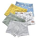 IPBEN Boxer Garçon Lot de 4 Enfant Slip Garcon Calecon Bébé Coton Culotte Pantalon sous-Vêtement 2-13 Ans (2/3 Ans, Robot)