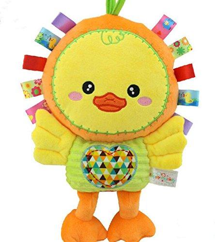 Baby Appease Tröster Spielzeug Tröster Spielzeug Baumwolle Handtuch Handpuppe Plüsch Ente Spielzeug_Gelb -