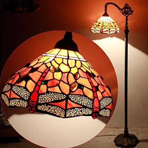 Tiffany Style Lights Handcrafted Hanging Floor Lamps