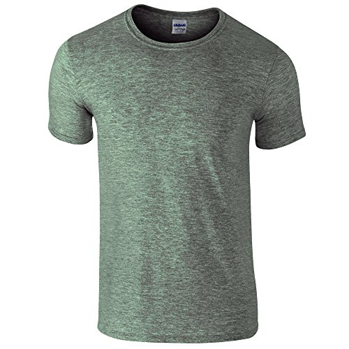 Gildan Softstyle, adult ringspun t-shirt Heather Military Green S - Green Heather-crew-t-shirt