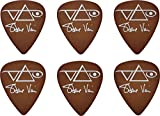 Ibanez B1000SV-BR Lot de 6 médiators Signature Steve Vai - Marrons