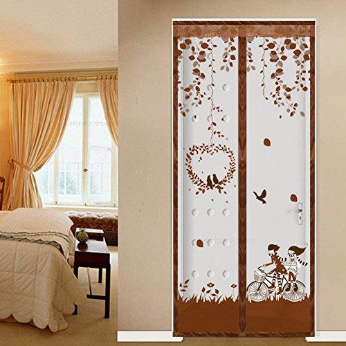 Magnetisch Türen für häuser bildschirm,Türen mit magneten bildschirm Velcro magnetische tür siebgewebe Der moskito Tür vorhang Magnetstreifen-schließung Sommer Schlafzimmer-D 100x200cm(39x79inch)
