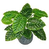 Leaf Design UK Pot de Fleurs artificielles en Plastique Noir 60 cm