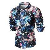 feiXIANG Herren Hemd Gedruckt Männer Shirts Freizeit Slim Fit Plus Size Shirt T-Shirt Bluse Tops