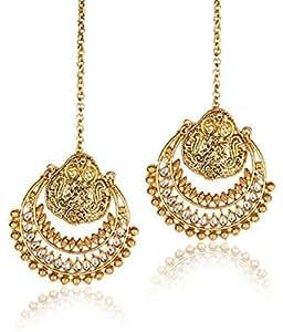 Shining Diva Metal Dangle & Drop Earring For Women (Gold)