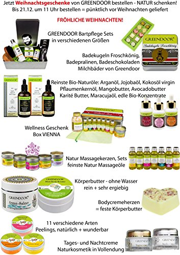 Greendoor BIO Massagekerze Orange, 100 ml - BIO Sojawachs & BIO Babassuöl, natur-reines Orangen-Öl - vegan, rußt nicht, keine Tierversuche - besonderes Geschenk, Massageöl Massage Öl - 2