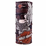 #9: Autofy Unisex Harley Logo Print Lycra Headwrap Bandana for Bikes (Black and Orange, Freesize)
