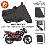 #6: Fabtec Premium Quality Waterproof Double Stiched Bike Body Cover With Heavy Buckle Lock & Storage Bag For Hero Glamour