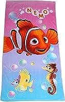 finding dory e Nemo pink Bubbles grande telo mare. 100% cotone fom. Lavabile in lavatrice.