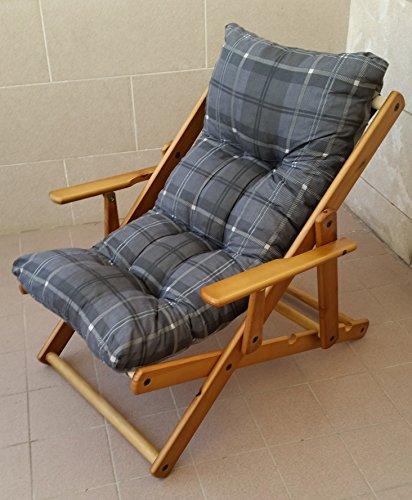 Poltrona Sdraio.Poltrona Sdraio Relax 3 Posizioni In Legno Pieghevole Cuscino