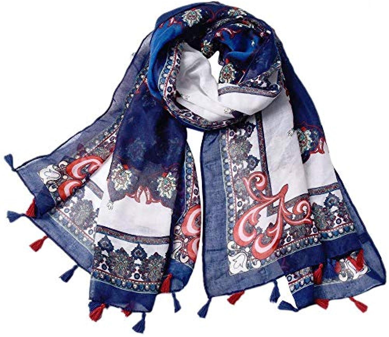 Lnyy Sciarpa Bali Filato Sciarpa Nazionale Stile Totem Stampa Taglia  Scialle con Frange Sciarpa Taglia Stampa 2aca7cc2228d