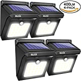 BAXiA Solar Lights Outdoor, Bright LED Solar Powered Security Lights,Waterproof Wireless Motion Sensor Lights for Outdoor Gate,Yard,Steps,Patio,Fence,Driveway, Garden (28LEDs,4 Packs)