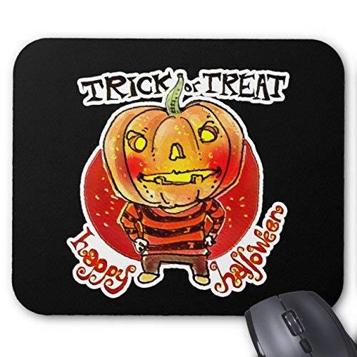 Pumpkin Head Halloween Boy Trick Or Treat Cartoon Mouse Pad Rectangle Non-Slip Rubber Personalized Mousepad Gaming Mouse Pads (Halloween Trick Or Treat Cartoon)