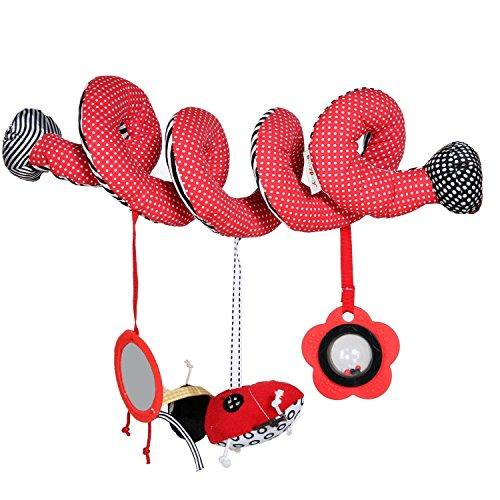 Minetom Baby Auto Aktivitätsspielzeug für Kleinkind Spielkette Universal für Babyschale Kleinkindspielzeug,Beschwichtigen Schlaf Spielzeug