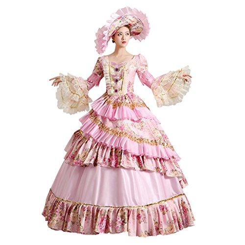 Cosplayitem Damen Mädchen Lagerter Gothic viktorianischen Kleid ...